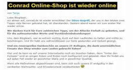 DDoS-Angriffe auf Conrad-Onlineshop
