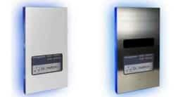 DoorLine Pro exclusive Color, rechts: DoorLine Pro exclusive Steel. Bildnachweis: Telegärtner