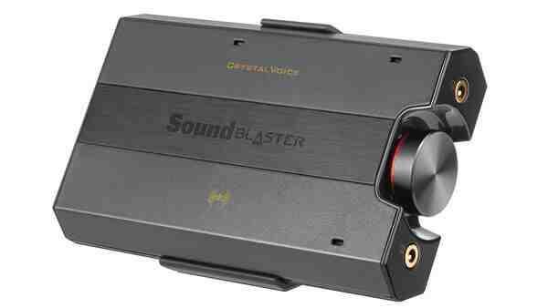Der kleine Creative Sound Blaster E5 bringt dank 600 Ohm Impedanz auch HiFi-Köpfhörer zum Beben. Bildnachweis: Creative