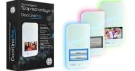 Läutende Besucher an DECT oder Handy weiterleiten, Touchscreen, RGB-Leuchtwelle, Licht-/Bewegungssensor und vieles mehr bietet die DoorLine Pro. Bildnachweis: Telegärtner